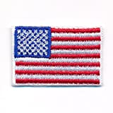 30 x 20 mm Amerika Flagge USA Flag Washington Patch Aufnäher Aufbügler 0640 Mini