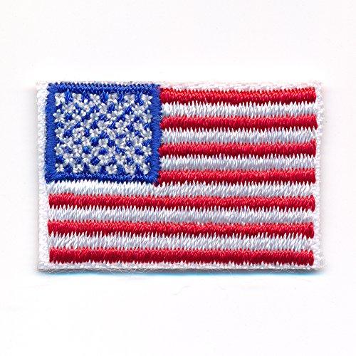 30 x 20 mm Amerika Flagge USA Flag Washington Patch Aufnäher Aufbügler 0640 Mini -