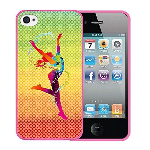 iPhone 4 iPhone 4S Hülle, WoowCase Handyhülle Silikon für [ iPhone 4 iPhone 4S ] Basketball Handytasche Handy Cover Case Schutzhülle Flexible TPU - Transparent Housse Gel iPhone 4 iPhone 4S Rosa D0507