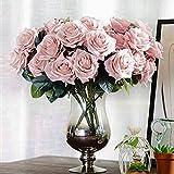 Auntwhale 10 Köpfe Künstliche Blume Französisch Rose Gefälschte für Brautstrauß Hochzeit Wohnzimmer Tisch Hausgarten Dekoration