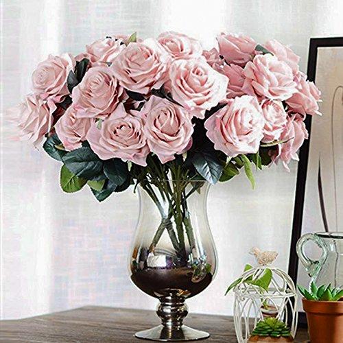 Kicode Rosen-Blumen-Bouquet Artificial Hydrangea 10