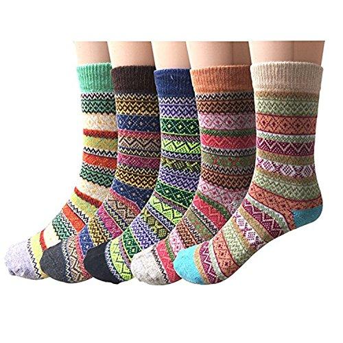 Garsumiss Damen Socken Baumwolle Thermal komfortable Mädchen Socken Malerei Cartoon Süße Lustige Nette Lässige Frauen Socken EU 35-41 Casual Acryl-crew Socke