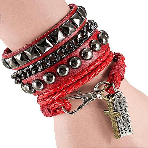 cool-moda-punk-pelle-street-rock-bracciale-multistrato-8-colori-acciaio-inossidabile-colore-red-cod-