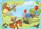 Tapetokids Fototapete - Disney Winnie Pu Bär Ferkel Tiger I-Aah - Vlies 312 x 219 cm (Breite x Höhe) - Wandbild Baum Wasser Luftballons Bienen Kinder Baby
