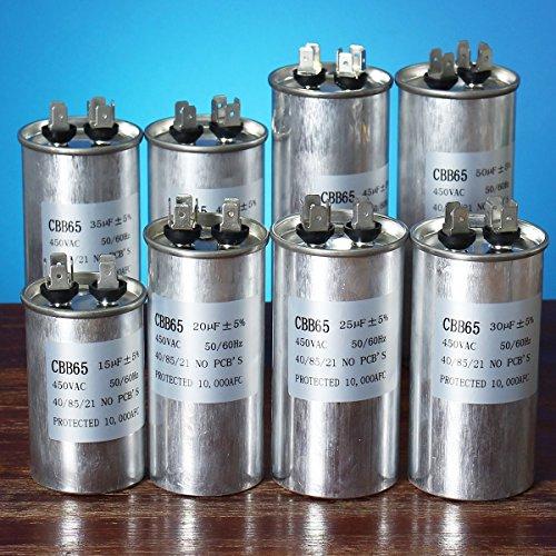 Bluelover 15-50Uf Motor Kondensator Cbb65 450Vac Klimaanlage Kompressor Start Kondensator -D