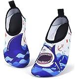 AMZTM Zapatos de Agua para Niño Chicos, Tiburón Zapatillas Acuáticas Secado