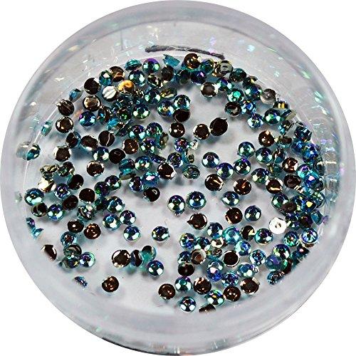 RM Beautynails 1,5 mm Bleu Clair Ronde irisé strass paillettes strass env. 50 pièces pour Nail Art et Manucure Design