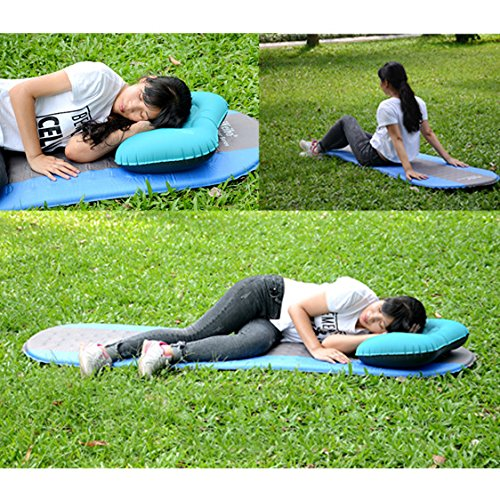 iNeibo Self Inflating Sleeping Mat Camping Mat Sleeping Pad Compact  Lightweight Camp Mat Inflatable Roll Up Foam Bed Tent Pads for Winter  Camping