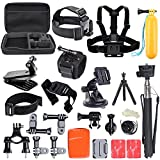 ccbetter 42-in-1 Outdoor Sports Action Kamera Zubehör Bundle Kit für Gopro Hero 4 3+ 3 2 1 CS720 Sj4000 Sj5000 Sj6000