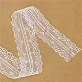 #4: Alcoa Prime New 10 Yards Cotton White Elegant Embroidery Decoration Net Water Soluble Lace White Lace and Lady Women Necessary