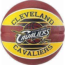 Spalding Team Cavaliers Size 7 Basketball (Multi Colour)