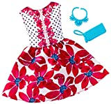 #7: Barbie Fashions Complete Look Dress, Floral Red