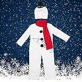 SPFAZJ Rendimiento del Hombre de Nieve de Santa Traje Traje Traje Ropa de Nochebuena Rendimiento Trajes Grupo Infantil Rendimiento