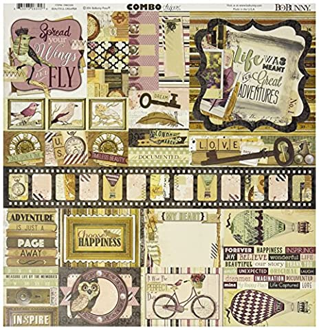BoBunny Beautiful Dreamer Combo Stickers 12-inch x 12-inch, Other,