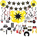 Easy Joy Rock Geburtstag Set Disco Hängende Deko Mottoparty Birthday Girlande Foto Requisiten