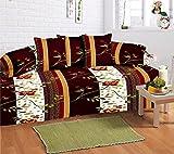 #10: Amayra Home 100% Cotton 120 TC Designer Printed 8Pc Diwan set(1 Single Bedsheet, 2 Bolster Covers, 5 Cushion Covers)