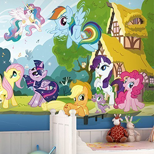 """Price comparison product image Walplus Wall Stickers """"My Little Pony"""" Mural Art Decals Vinyl Home Decoration DIY Living Bedroom Office Décor Wallpaper Kids Room Gift,  Multi-colour"""