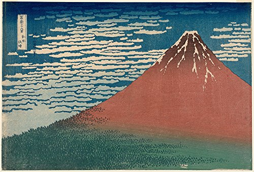 katsushika-hokusai-wind-clear-weather-red-fuji-large-semi-gloss-black-frame