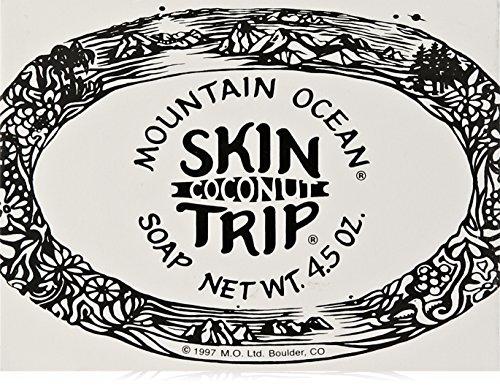 Mountain Ocean Pain de savon hydratant et apaisant Skin Trip - A l'huile de noix de coco - 128 g