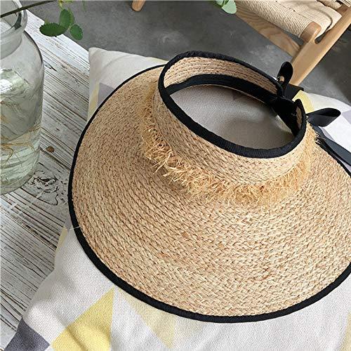 Visiera Cappello Estivo da Spiaggia Cappello da Sole per Cappellino da Donna con Visiera Parasole in Paglia E Cappello da Donna con Visiera Parasole
