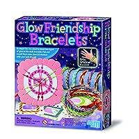 4M Make Your Own Glow Friendship Bracelets - Modern Fashion Kit - Best New Creative Toy - Arts & Crafts Toys & Games Gift Present Idea For Birthdays Age 5+ Girl Girls Child Children Kids