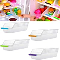 Angel Bear Fridge Storage Basket Shelf Organiser Rack Space Saver Food Storage Refrigerator Drawer (4) (Made in India)