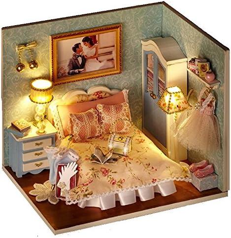 Maison de poupées en bois à bricolage Handcraft Miniature Kit ...