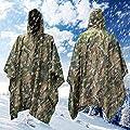 Mture Wasserdichter Regenponcho, Freizeit Regenmantel, Regenjacken Unisex Regenmantel Ponchos Regenbekleidung für Bergsteigen Reisen - grün