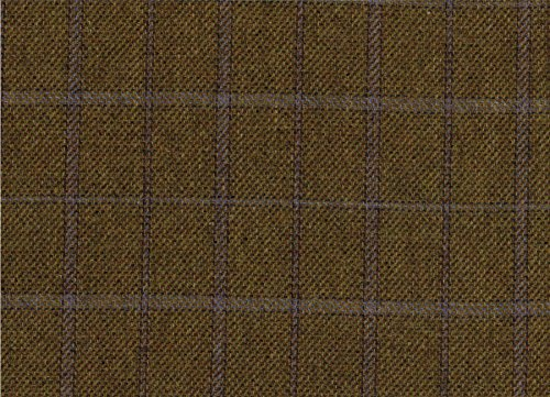 Country Tweed | 100% Reine Wolle | Stoff Meterware |Green Lila Fensterscheibe | Gewicht 368,5 | Ref 1813/9 -