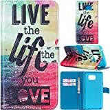 #3: Note 5 Case, Galaxy Note 5 Case, Love Sound [Stand Feature] Premium Wallet PU Leather Folio Wallet Flip Case Cover Built-in Card Slots for Samsung Galaxy Note 5 [Live the life you love]