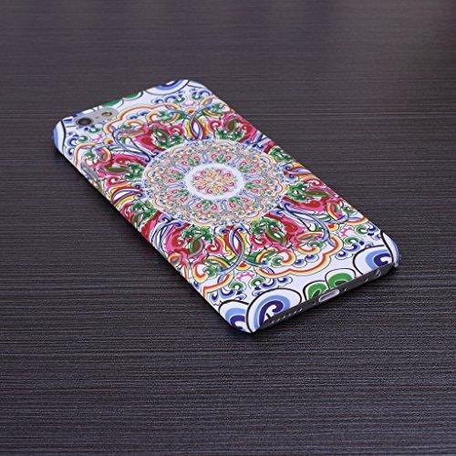 iPhone 5S Coque se, floral vintage Motif fleurs Housse PC Coque rigide pour iPhone 5sse (1), 1, iPhone 5S 4