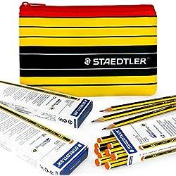 Staedtler Noris 120–36x 2B Premium lápices de grafito y a juego Staedtler Noris Lápiz caso