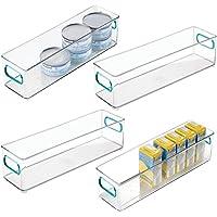 mDesign boite alimentaire pour la cuisine (lot de 4) – boite rangement frigo en plastique – boite plastique alimentaire…