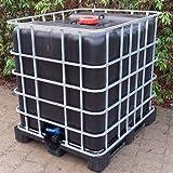 Class IBC Tank 1000l, SCHWARZ, Trinkwassertank auf Stahl/PE-Palette Gitterbox gebraucht #12