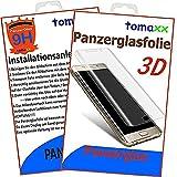 tomaxx 3D Panzerglas für Samsung Galaxy S7 Edge Panzerfolie Hartglas Glasfolie