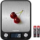 Supkitdin Bilancia da Cucina Digitale,10kg/22lb bilancia per alimenti multifunzione, Funzione Peeling, Spegnimento Automatico