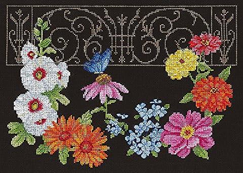 Janlynn escamotable Jardin compté point de croix kit, 14x 28cm