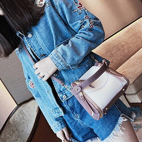 LiZhen piccoli pacchetti donna nuova marea di stile Coreano spalla selvatici messenger ulzzang Harajuku venti locali pacchetto femmina, blu Rosa