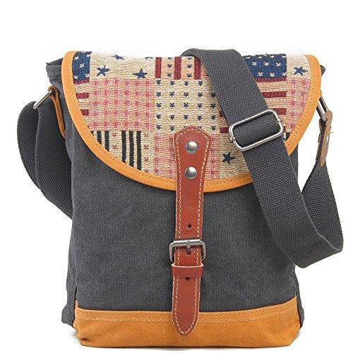 Europa e negli Stati Uniti gli uomini e donne casual borsa a tracolla messenger bag, Khaki dark gray