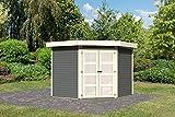 Karibu Gartenhaus GOLDENDORF 5 terragrau Gerätehaus 246x242cm 19mm