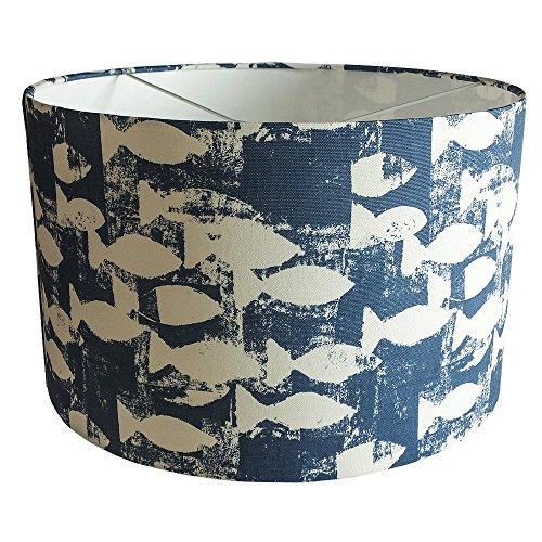 shoal-print-handmade-fabric-drum-lampshade-indigo