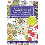 160 Page Adult Colouring Book with Creative Art Therapy Patterns and Pictures