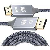Snowkids Cable DisplayPort a HDMI -3m 4K UHD AdaptadorDisplay Port a HDMI - Nylon Trenzado unidireccional Cable DP a HDMI Co