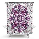 SonMo Duschvorhang Mandala Blume Polyester Stil 4 Wasserdicht Anti-Schimmel Anti-Bakteriellbad Vorhang für Badezimmer Badewanne mit Duschvorhangringen Verdicken 175×180CM
