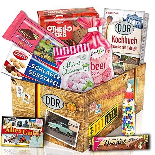 Süssigkeiten Box mit DDR Waren / Geschenkeset zum Geburtstag für Männer
