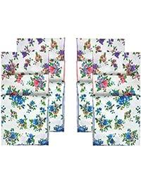 Indiacrafts Queen's Collection Cotton Handkerchiefs for Women Set of 12 Piece