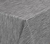 Wachstuchtischdecke rund oval eckig, Georginias Tischdecke abwischbar LFGB, Farbe und Größe wählbar (Oval 130 x 170 cm Grau)