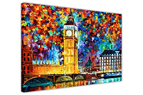 CANVAS IT UP London 2012Ölgemälde Nachdruck von Leonid Afremov auf Rahmen Leinwand Kunstdruck Wandbild Bilder Modern Prints Abstrakt Größe: 101,6x 76,2cm (101x 76cm)