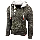 Rusty Neal Top Herren Winter Kapuzenpullover Pulli Sweatshirt Jacke RN-13277, Größe:4XL, Farbe:Khaki