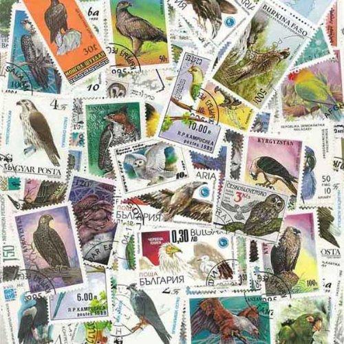 Rapaci: 100 francobolli diversi